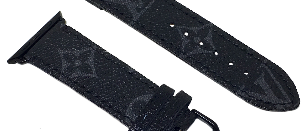 Made-to-Order Black LV Apple Watch Straps