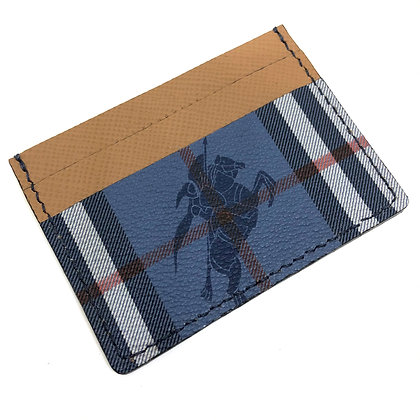 READY-TO-SHIP Authentic Upcycled Vintage Blue Burberry Card Holder