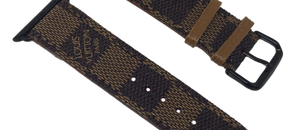 Made-to-Order Upcycled Damier Ebene Apple Watch Straps