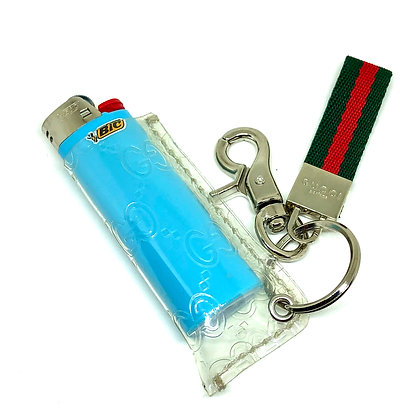READY-TO-SHIP Gucci Clear PVC Lighter Sleeve with Hardware Attached
