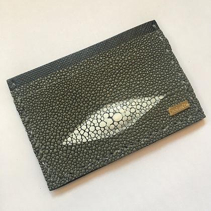 Grey Stingray Diamond Minimalist Wallet