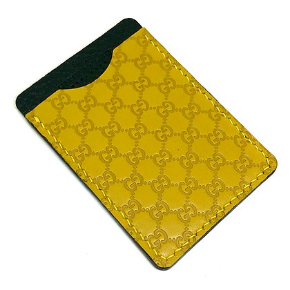 READY-TO-SHIP Yellow Gucci Leather Minimalist Wallet