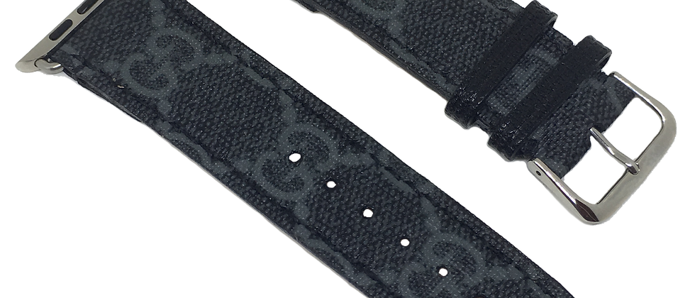 Custom Authentic Upcycled Black Gucci Apple Watch Straps