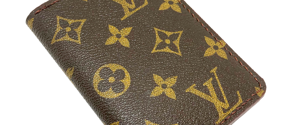 Made-to-Order Authentic Upcycled LV Vertical Wallet