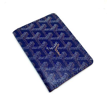 READY-TO-SHIP Upcycled Navy Blue Goyard Gentlemen's Wallet