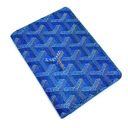 READY-TO-SHIP Upcycled Blue Goyard Gentlemen's Wallet