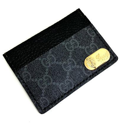 READY-TO-SHIP Upcycled Black Gucci Card Holder