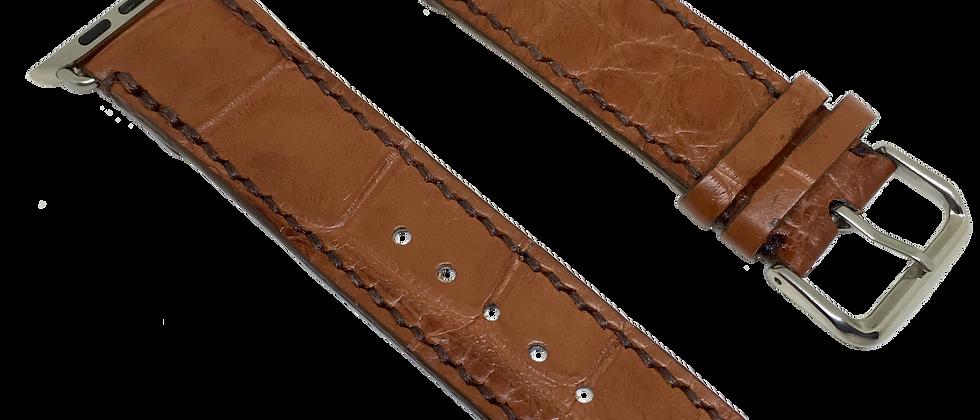 Genuine American Alligator Cognac Watch Straps