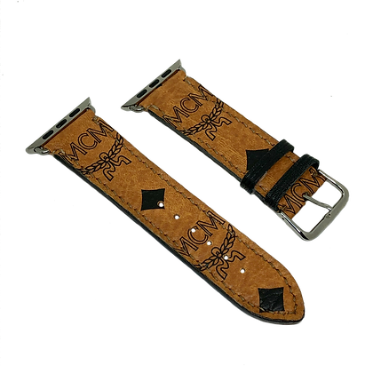 Made-to-Order Upcycled MCM Watch Straps