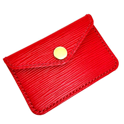 READY-TO-SHIP Red Epi Snap Card Holder