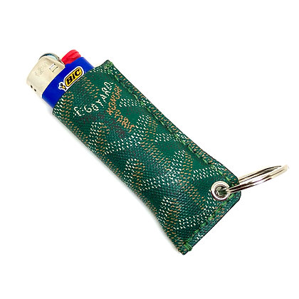 READY-TO-SHIP Upcycled Green Goyard Lighter Sleeve