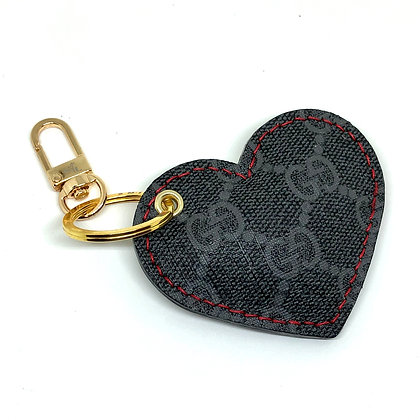 READY-TO-SHIP Upcycled Black Gucci Puffy Heart