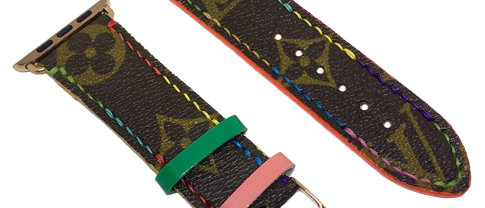 Made-to-Order Upcycled LV Multicolore Thread Watch Straps