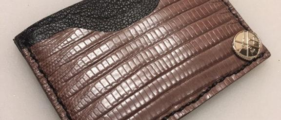 Brown Teju Lizard Minimalist Wallet