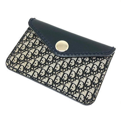 READY-TO-SHIP Upcycled Vintage Dior Snap Card Holder
