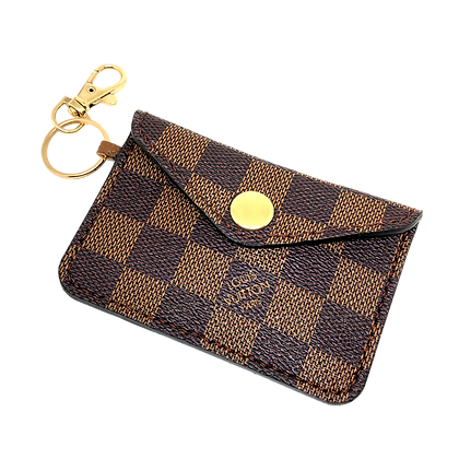 Made-to-Order Authentic Upcycled Damier Ebene Snap Card Holder