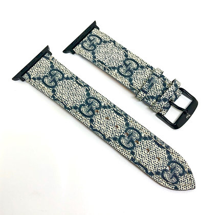Made-to-Order Authentic Upcycled Navy Blue Gucci Watch Straps