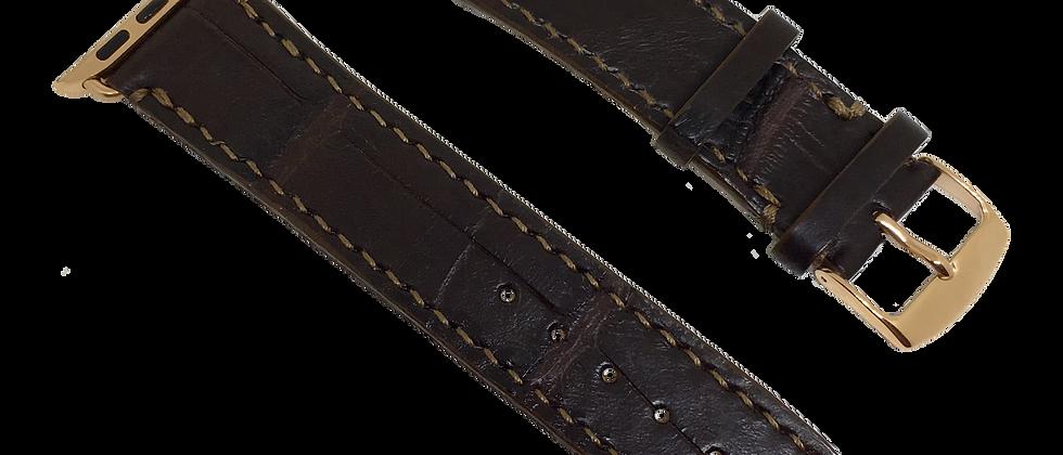 Genuine American Alligator Whiskey Watch Straps