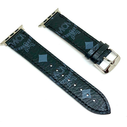 Made-to-Order Authentic Upcycled Black MCM Watch Straps