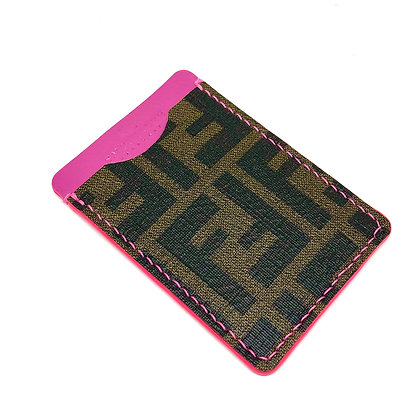 READY-TO-SHIP Authentic Upcycled Fendi Zucca Minimalist Card Holder