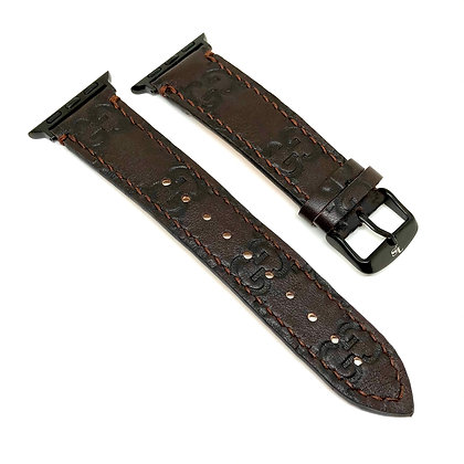 Made-to-Order Authentic Upcycled Brown GG Watch Straps
