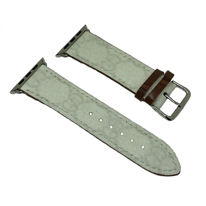 Custom Authentic Upcycled White Gucci Supreme Watch Straps