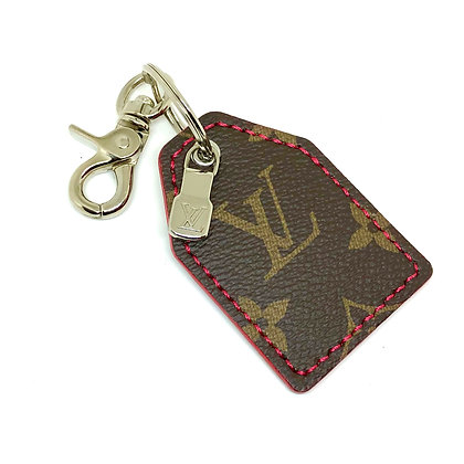 READY-TO-SHIP Authentic Upcycled LV keychain