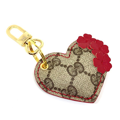 Made-to-Order Repurposed Floral Gucci Puffy Heart