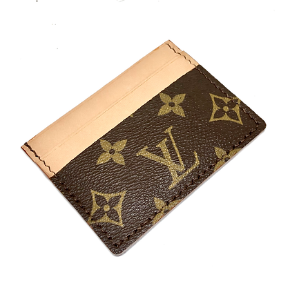 Made-to-Order Authentic Upcycled LV Card Holder