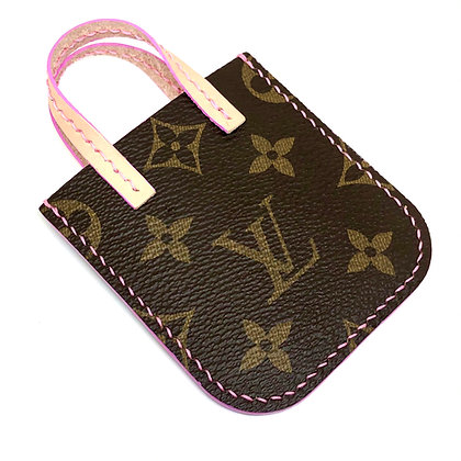 Made-to-Order Authentic Repurposed Mini LV Tote Card Holder