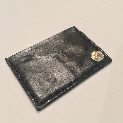 Black Cowhide Minimalist Wallet