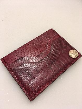 Wine Red Minimalist Wallet
