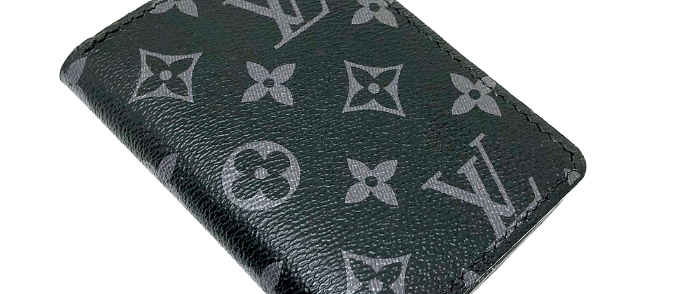 Customizable Authentic Upcycled LV Eclipse Gentlemen's Wallet