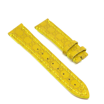 READY-TO-SHIP Upcycled Yellow Leather GG Watch Straps