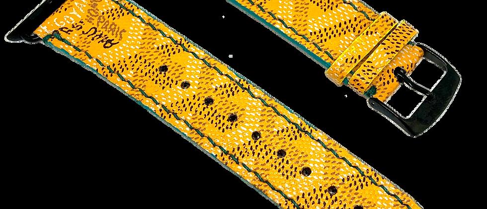 Made-to-Order Yellow Goyard Watch Straps