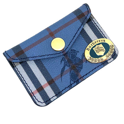 READY-TO-SHIP Vintage Blue BB Snap Card Holder