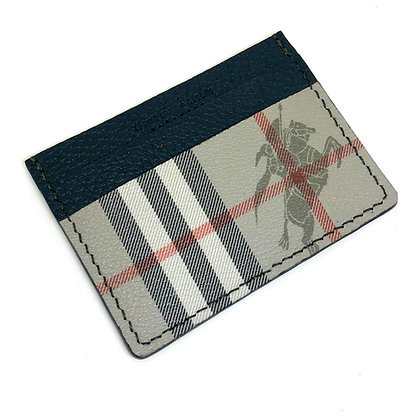 READY-TO-SHIP Authentic Upcycled Vintage Grey Burberry Card Holder