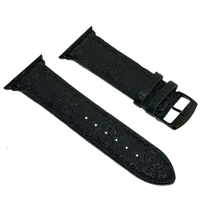 Made-to-Order Upcycled Black Gucci Leather Watch Straps
