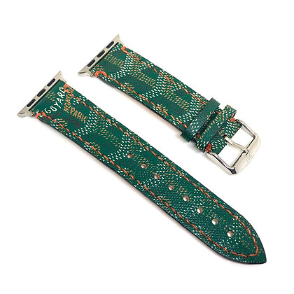 Made-to-Order Authentic Upcycled Green Goyard Watch Straps