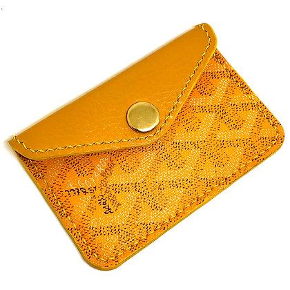 READY-TO-SHIP Yellow Goyard Snap Card Holder