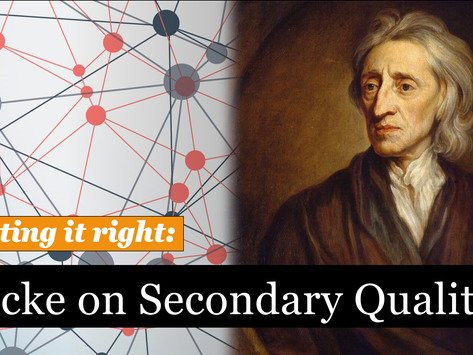 Does Locke say that secondary qualities are just ideas in the mind?