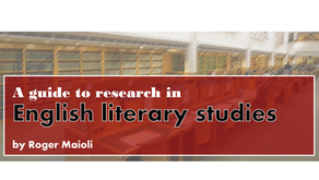 A guide to research in English literary studies