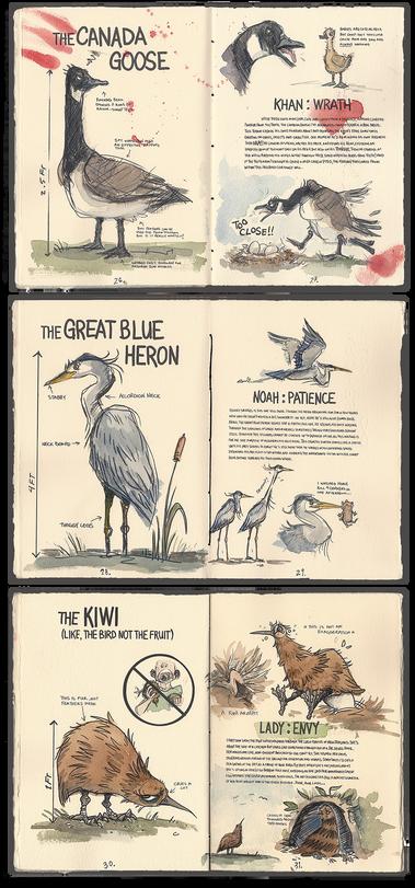 Seven Deadly Sin Birds