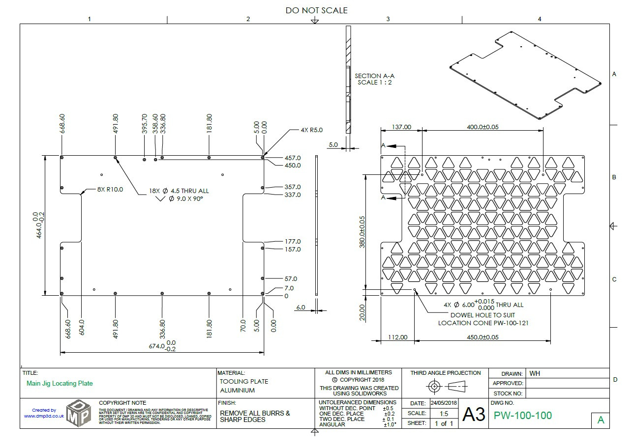 Base Fixture Plate