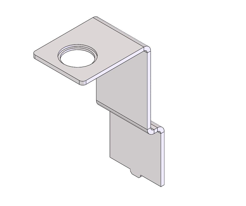 CAD screen shot of sheet metal part