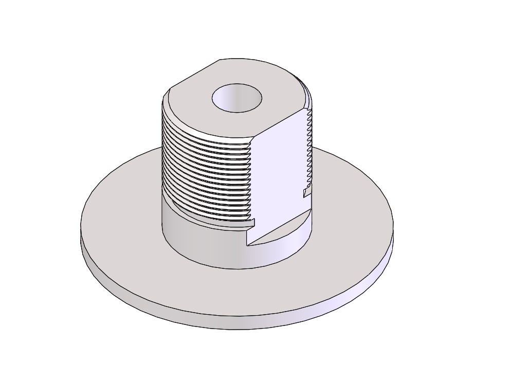 CAD screen shot of machined part
