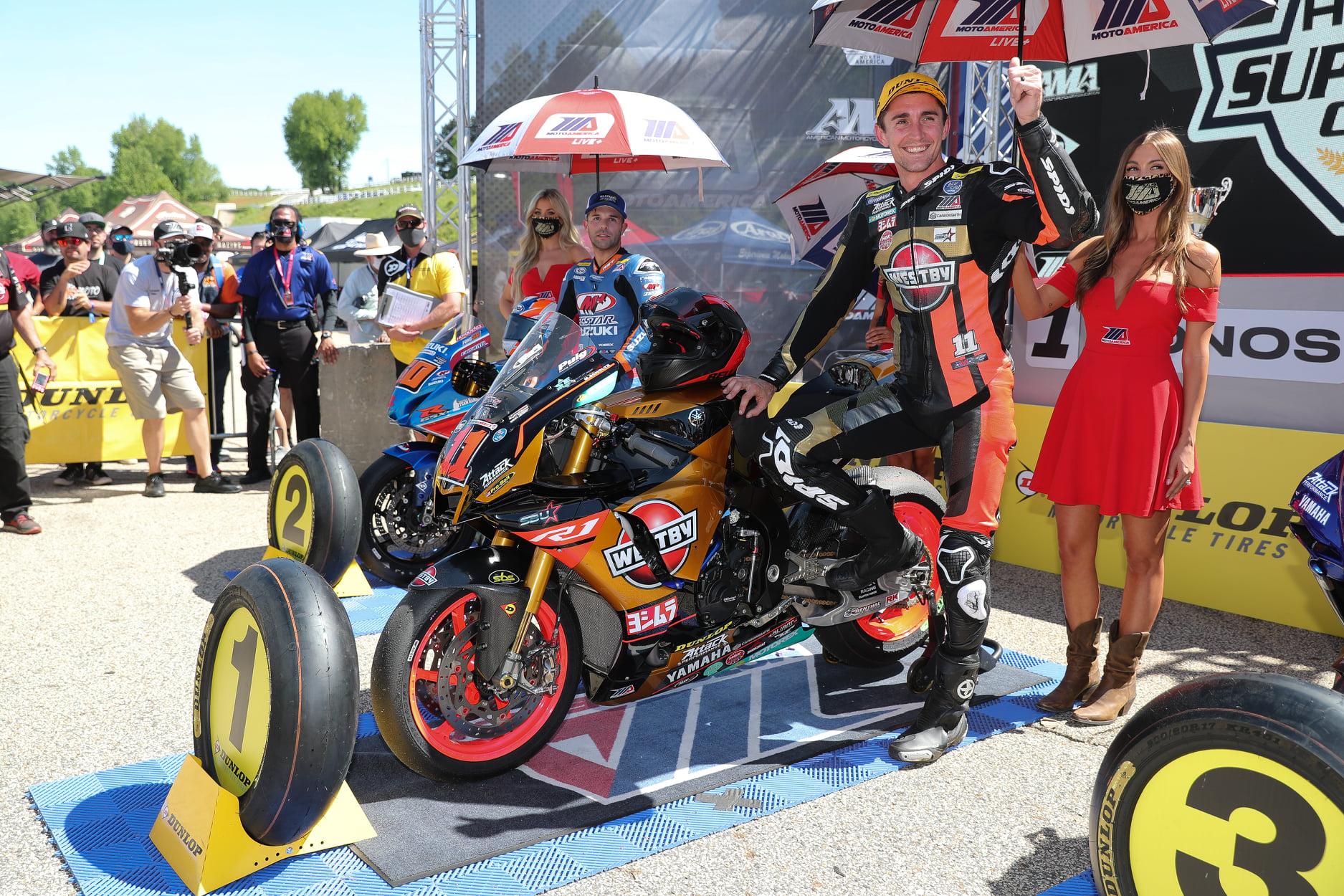 Scholtz Strikes Gold, Wins Saturday's Superbike Race At Michelin Raceway Road Atlanta; Roach Finishe