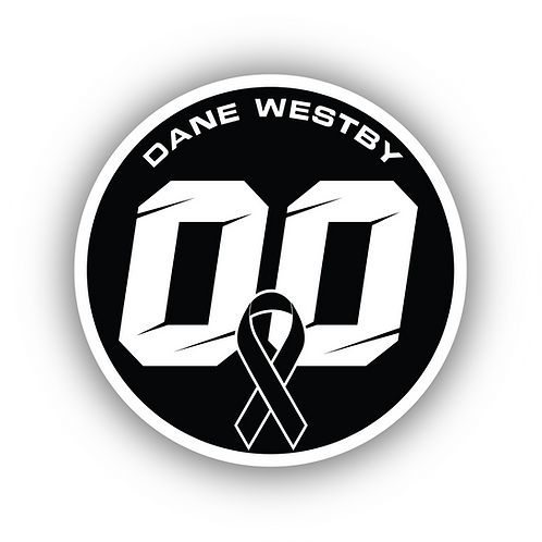 Dane Westby #00 Memorial Sticker