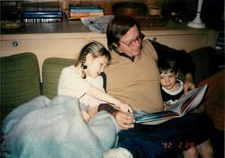 Dane, Tryg and Scarlett Reading