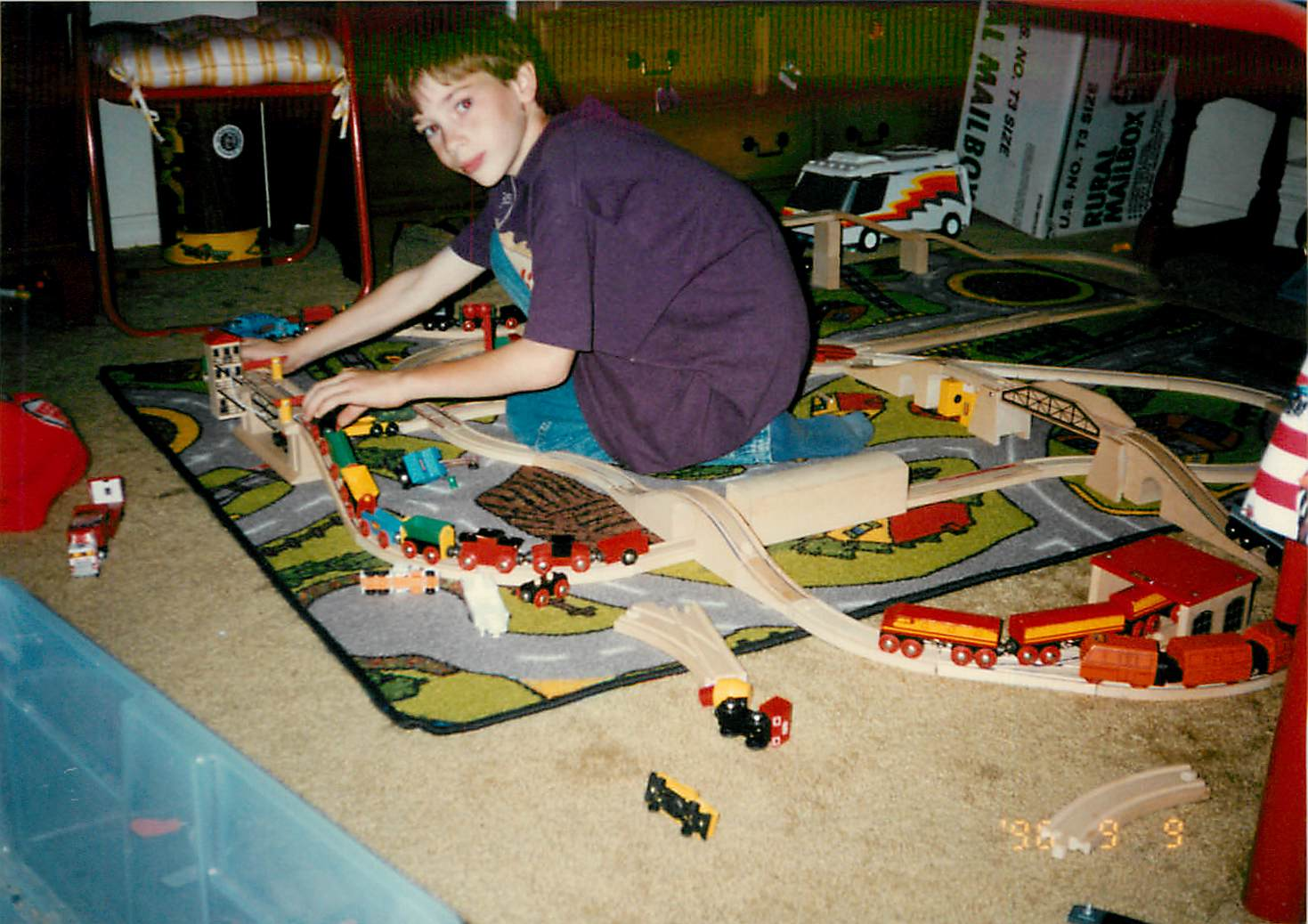 Dane with trains 1998